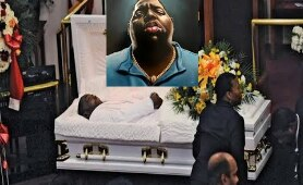 Latest Funeral Photos of Biggie Smalls ( The Notorious B.I.G. ) 1997