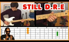 Still D.R.E (Dr. Dre ft Snoop Dog) GUITAR ANIMATED TUTORIAL in 1 minute