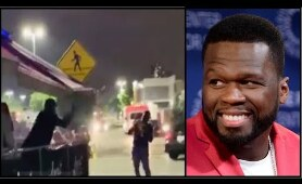 """50 CENT Calls INCIDENT Of HIM THROWING TABLE & CHAIR At Alleged INSTIGATOR """"FAKE NEWS"""""""